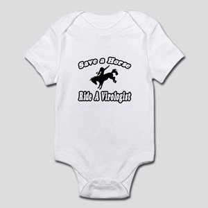 """Save Horse, Ride Virologist"" Infant Bodysuit"