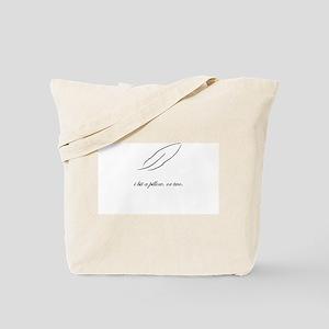 Pillow Biting Tote Bag