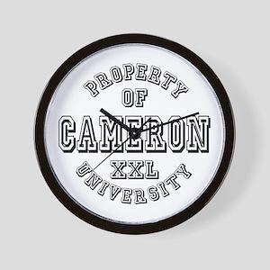 Property of Cameron Last Name University Wall Cloc