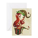 Elfie Christmas Greeting Card