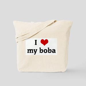 I Love my boba Tote Bag
