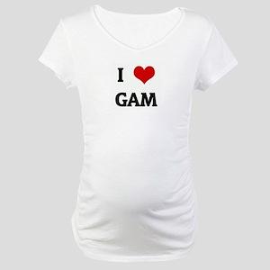 I Love GAM Maternity T-Shirt