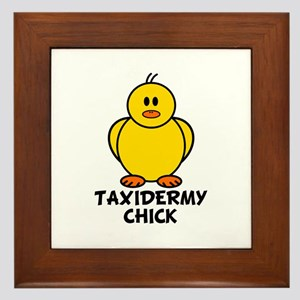 Taxidermy Chick Framed Tile
