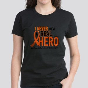 Never Knew A Real Hero 2 ORANGE Women's Dark T-Shi