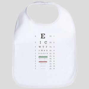 Eye Chart Bib