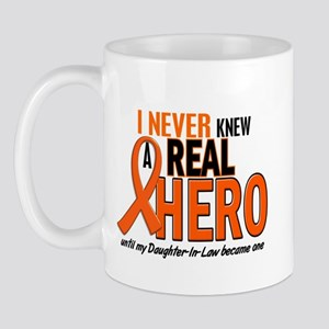 Never Knew A Real Hero 2 ORANGE Mug