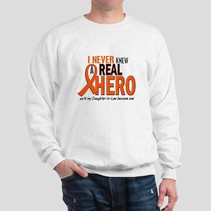 Never Knew A Real Hero 2 ORANGE Sweatshirt