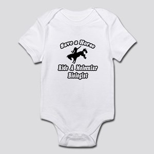 """Ride a Molecular Biologist"" Infant Bodysuit"