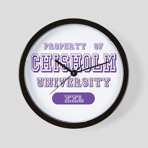 Property of Chisholm Name University Wall Clock