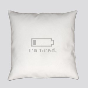 I'm Tired - Battery Bar Everyday Pillow