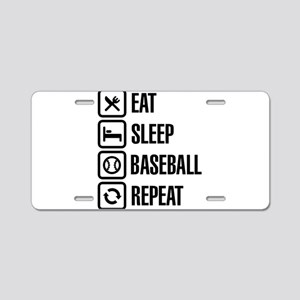 Eat, Sleep,Baseball / Softb Aluminum License Plate