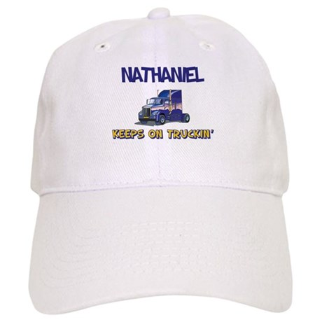 Nathaniel Keeps on Truckin Baseball Cap by snarkybabies f093c2b8dc3d