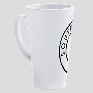 White South Africa 17 oz Latte Mug