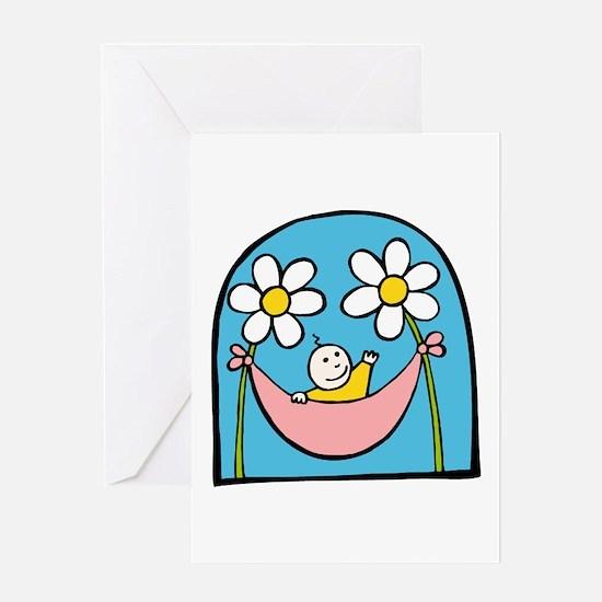 Flower Baby Greeting Card