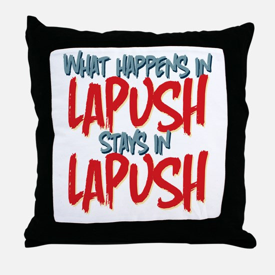What happens in LaPush Stays In Throw Pillow