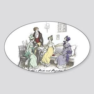 Pride & Prejudice Ch 17 Oval Sticker