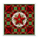 Festive Holiday Star Tile Coaster