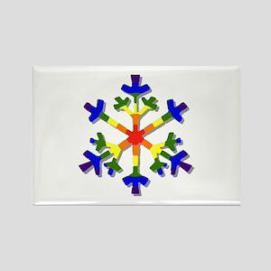 Fruit Flake Rectangle Magnet