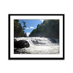 9X12 Framed Print- Adirondack Waterfall 2