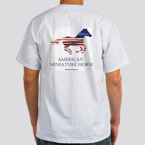 American Miniature Horse Flag Ash Grey T-Shirt