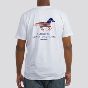 American Miniature Horse Flag Fitted T-Shirt