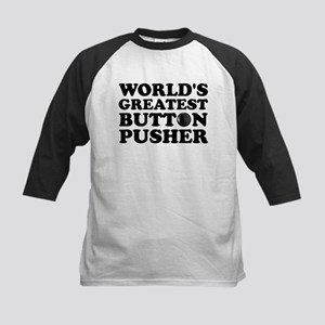 WTD: World's Greatest Button Kids Baseball Jersey