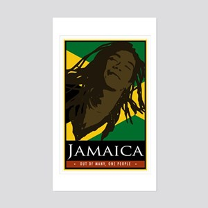 Jamaica Rectangle Sticker