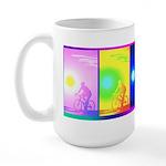 Large Rainbow Cycling Mug