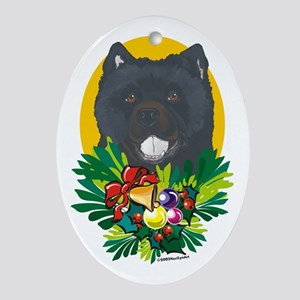 Chow Chow Dog Christmas Oval Ornament