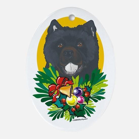 Chow Chow Dog Christmas Oval Ornament
