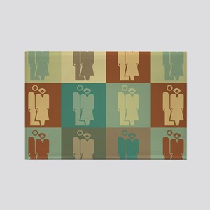 Human Resources Pop Art Rectangle Magnet