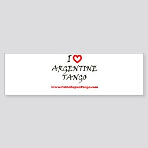 I love Argentine Tango Bumper Sticker