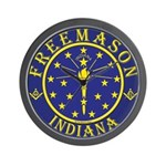 Indiana Masons Wall Clock