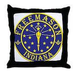 Indiana Masons Throw Pillow
