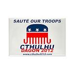 Sauté Our Troops Rectangle Magnet (100 pack)