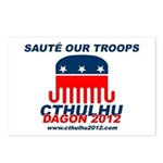 Sauté Our Troops Postcards (Package of 8)