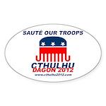 Sauté Our Troops Oval Sticker