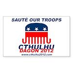 Sauté Our Troops Rectangle Sticker