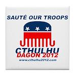 Sauté Our Troops Tile Coaster