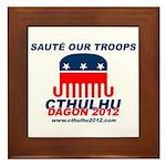 Sauté Our Troops Framed Tile