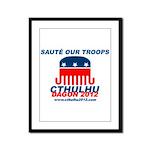Sauté Our Troops Framed Panel Print