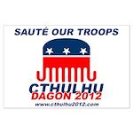 Sauté Our Troops Large Poster