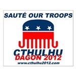 Sauté Our Troops Small Poster