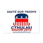 Sauté Our Troops Mini Poster Print