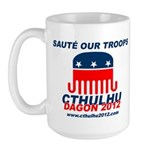 Sauté Our Troops Large Mug