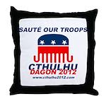 Sauté Our Troops Throw Pillow