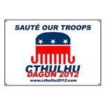 Sauté Our Troops Banner