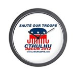 Sauté Our Troops Wall Clock