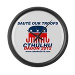 Sauté Our Troops Large Wall Clock