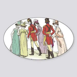 Pride & Prejudice Ch 21a Oval Sticker